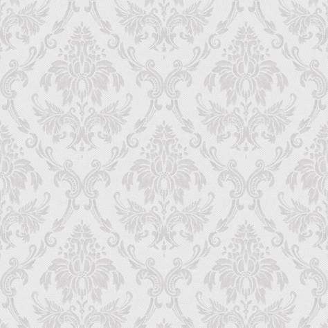 Casadeco So White 2 Ornement Wallpaper - Grey - 21679100