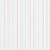 Rayure Indien Wallpaper - Blue/Red