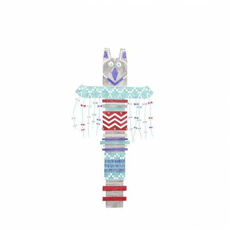 Casadeco Arc En Ciel Totem Panoramic Wallpanel - Blue - 25586163
