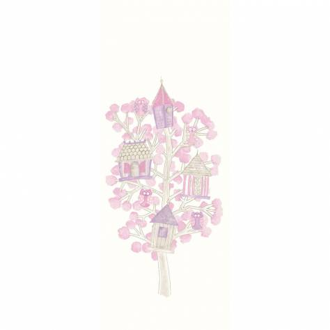 Casadeco Arc En Ciel Arbre Chouettes Panoramic Wallpanel - Rose - 25784167
