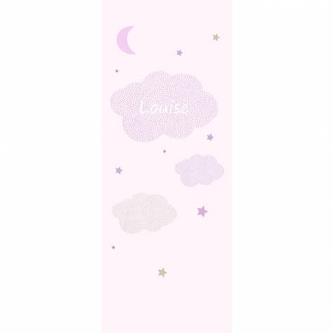 Casadeco Arc En Ciel Nuages Panoramic Wallpanel (Personalised) - Rose - 25794100