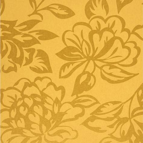 Casadeco Midnight 3 Wallpapers Fleur Wallpaper - Yellow - 17423208