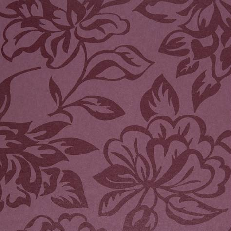 Casadeco Midnight 3 Wallpapers Fleur Wallpaper - Violet - 17425130