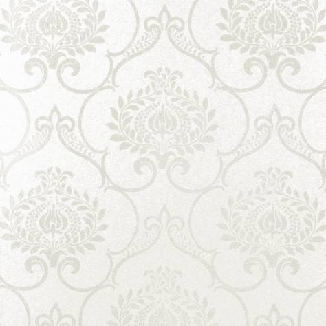Casadeco Midnight 3 Wallpapers Ornement Wallpaper - White - 26450136