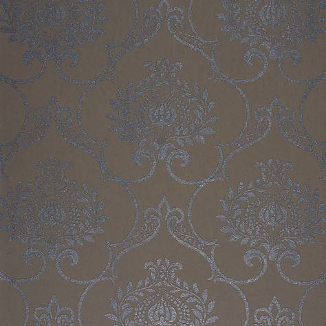 Casadeco Midnight 3 Wallpapers Ornement Wallpaper - Marron - 26451512