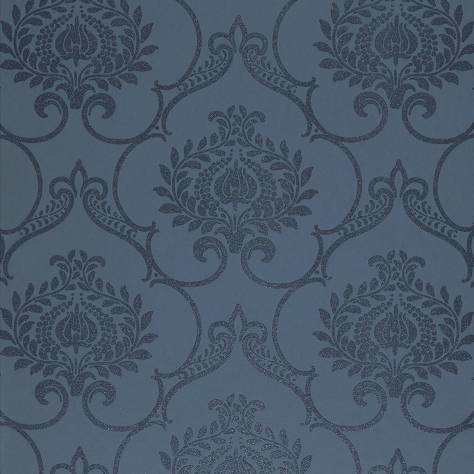 Casadeco Midnight 3 Wallpapers Ornement Wallpaper - Night Blue - 26456205