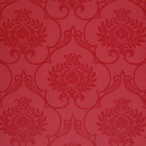 Casadeco Midnight 3 Wallpapers Ornement Wallpaper - Red - 26458119