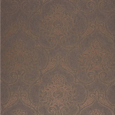 Casadeco Midnight 3 Wallpapers Ornement Wallpaper - Copper - 26463223