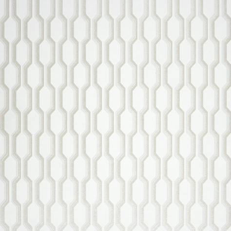 Casadeco Midnight 3 Wallpapers Nid D'abeille Wallpaper - White - 26480141