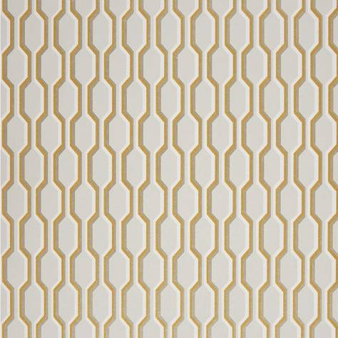 Casadeco Midnight 3 Wallpapers Nid D'abeille Wallpaper - Yellow - 26482130