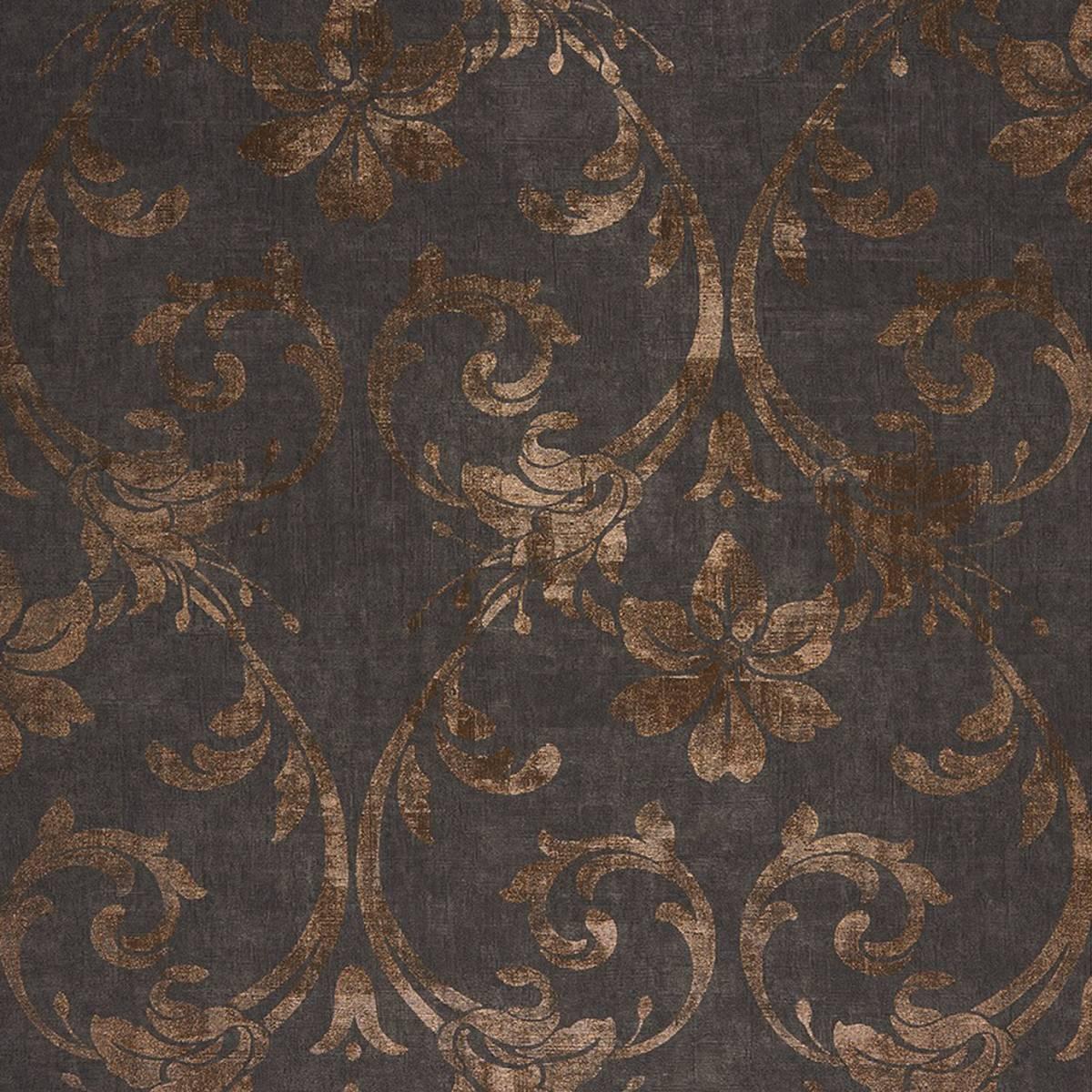 Art nouveau wallpaper noir copper 26409123 casadeco for Art nouveau wallpaper uk