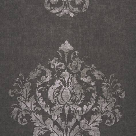 Casadeco Majestic Wallpapers Ornement Wallpaper - Noir/Silver - 26419906