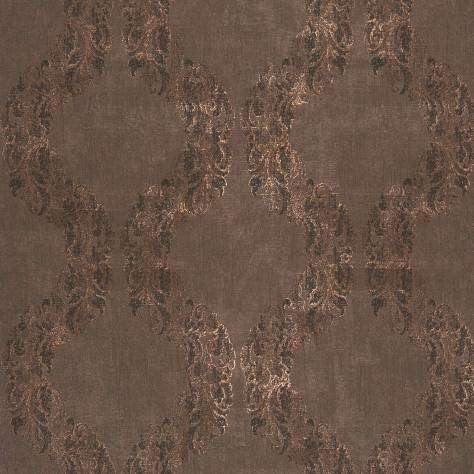 Casadeco Majestic Wallpapers Couronne Wallpaper - Brown/Copper - 26421421