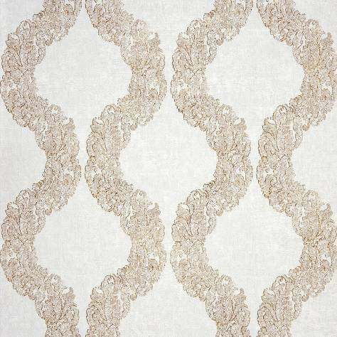 Casadeco Majestic Wallpapers Couronne Wallpaper - Sable - 26422113
