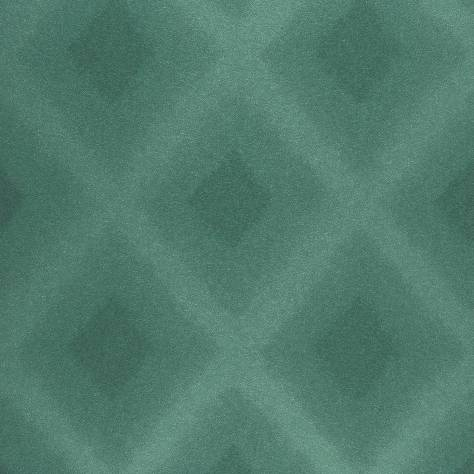 Casadeco Empire State Fabrics & Wallpapers Diamond Wallpaper - Blue/Emerald - 26766130