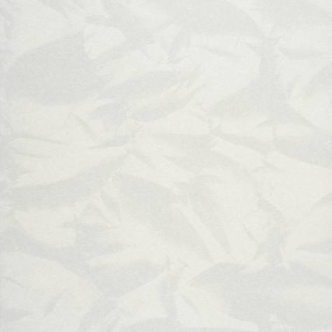 Casadeco Empire State Fabrics & Wallpapers Froisse Wallpaper - White - 26770116