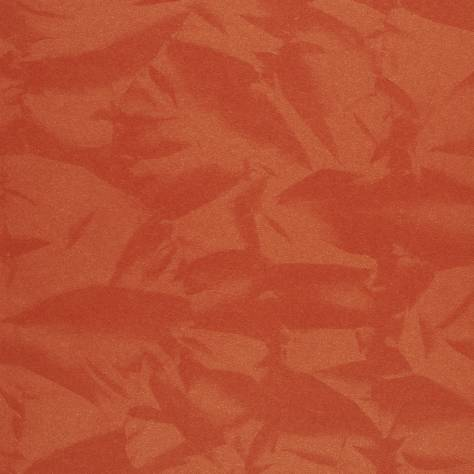 Casadeco Empire State Fabrics & Wallpapers Froisse Wallpaper - Orange - 26773121