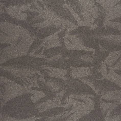 Casadeco Empire State Fabrics & Wallpapers Froisse Wallpaper - Black - 26779127