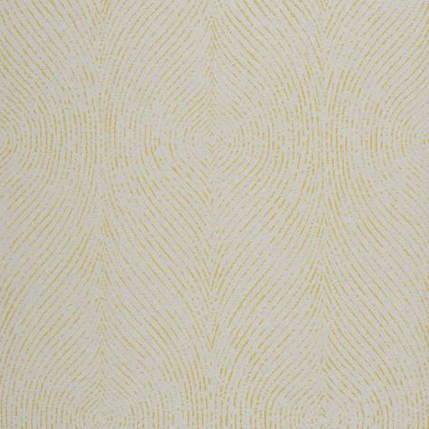Casadeco Empire State Fabrics & Wallpapers Empreintes Wallpaper - Yellow - 26782115