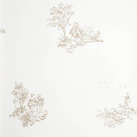 Casadeco Chantilly Fabrics & Wallpapers Motif Place Jouy Wallpaper - 22921125