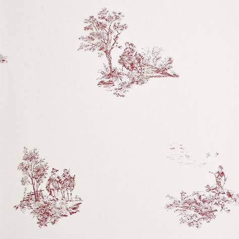Casadeco Chantilly Fabrics & Wallpapers Motif Place Jouy Wallpaper - 22928117
