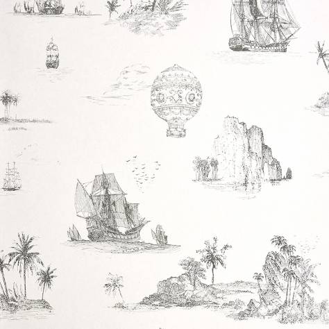 Casadeco Chantilly Fabrics & Wallpapers Voyage Wallpaper - Black - 22959520