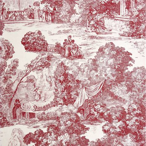 Casadeco Chantilly Fabrics & Wallpapers Scene de Parc Wallpaper - 22978112