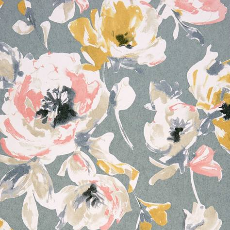 Casadeco Amazing Fabrics & Wallpapers All Over Wallpaper - Yellow/Coral - 26822115