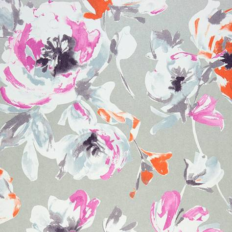 Casadeco Amazing Fabrics & Wallpapers All Over Wallpaper - Violet/Coral - 26825128