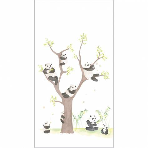 Casadeco Alice & Paul Fabrics & Wallpapers Panda Panoramique Wallpanel - 28169401