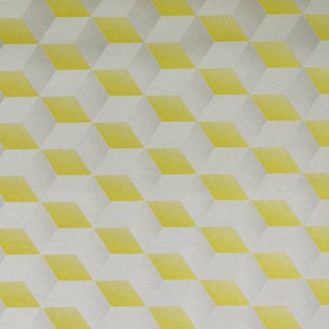 Casadeco Chrome Wallpapers Square 3D Wallpaper - Yellow/Silver - 28351903