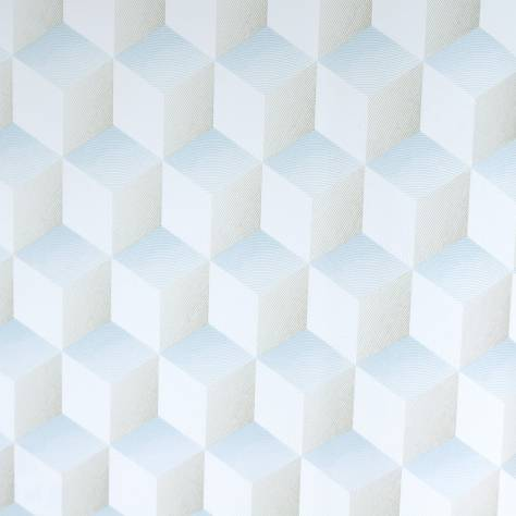 Casadeco Chrome Wallpapers Square 3D Wallpaper - Blue/Gris - 28356119