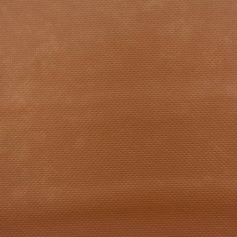 Casadeco Chrome Wallpapers Uni Leather Wallpaper - Orange - 28373144