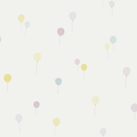 Casadeco Jules et Julie Fabrics & Wallpapers Balloon Wallpaper - Parma/Blue - 18945122