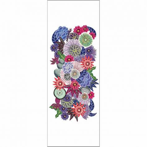 Casadeco So Wall 2 Pop Flowers Wallpanel - Rose - 27475626