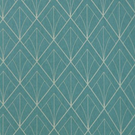 Casadeco Louise Wallpapers Art Deco Wallpaper - Turquoise - 28896523
