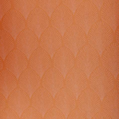 Casadeco Louise Wallpapers Petite Palmette Wallpaper - Copper - 28902835