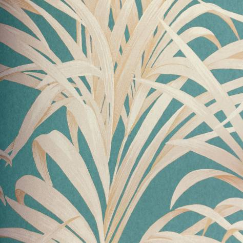 Casadeco Louise Wallpapers Fougeres Wallpaper - Turquoise - 28926505