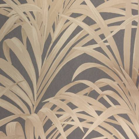 Casadeco Louise Wallpapers Fougeres Wallpaper - Black/Gold - 28929939