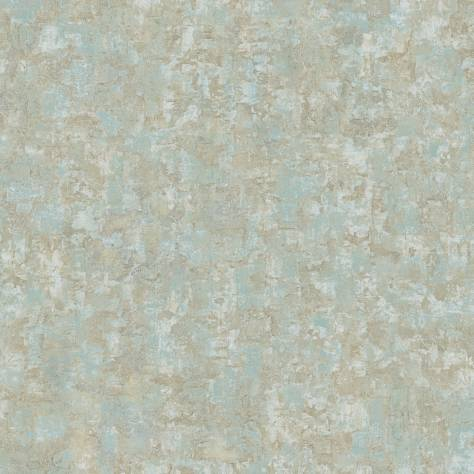 Casadeco Oxyde Wallpapers Ecorces Wallpaper - Turquoise - 29166117