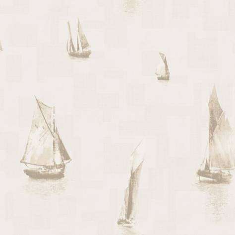 Casadeco Baltic Wallpapers Bateaux Wallpaper - Beige - 29271105