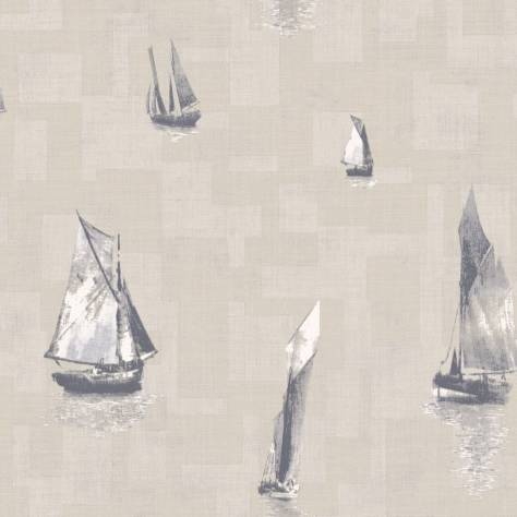 Casadeco Baltic Wallpapers Bateaux Wallpaper - Grey/Taupe - 29271230