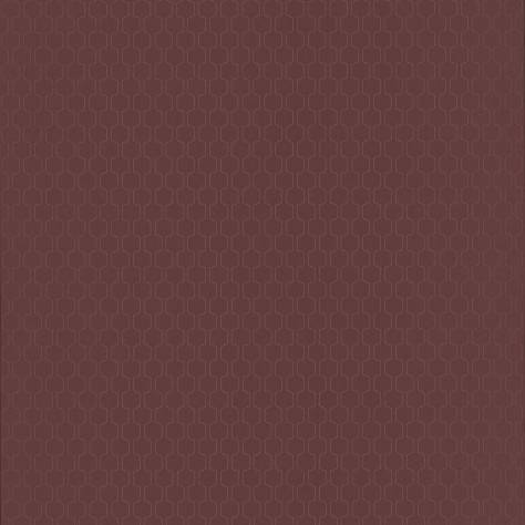 Casadeco Rendez-Vous Fabrics & Wallpapers Geometrique Wallpaper - Marsala/Copper - 29038701