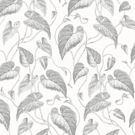 Casadeco Rendez-Vous Fabrics & Wallpapers Fleur de Vigne Wallpaper - White/Black - 29049831