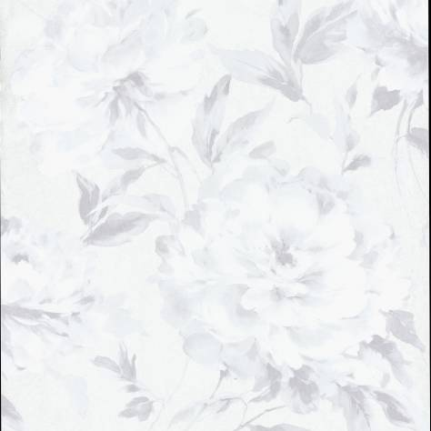Casadeco Rendez-Vous Fabrics & Wallpapers Grande Fleur Wallpaper - White - 29060137