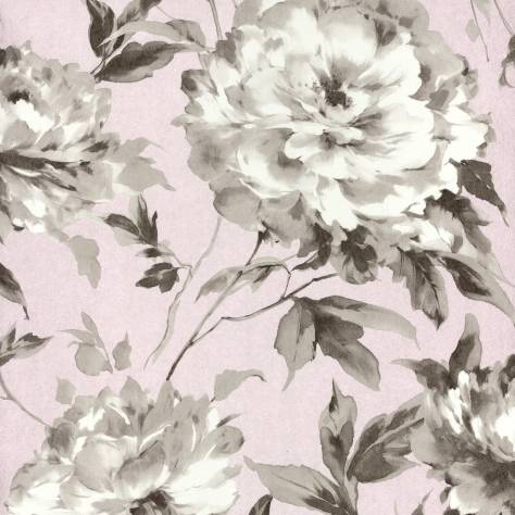 Casadeco Rendez-Vous Fabrics & Wallpapers Grande Fleur Wallpaper - Rose - 29064113