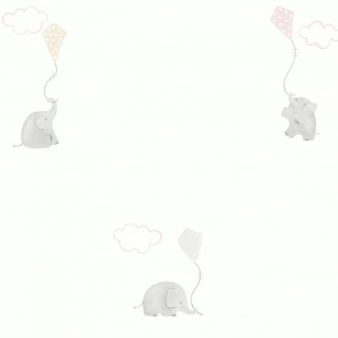 Casadeco My Little World Fabrics & Wallpapers Elephants Wallpaper - Rose - 29734231