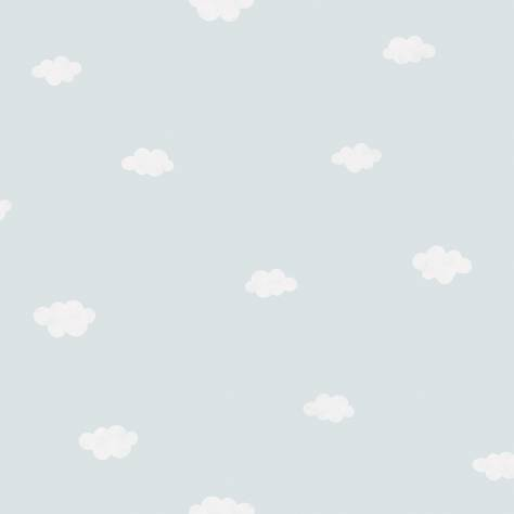 Casadeco My Little World Fabrics & Wallpapers Clouds Wallpaper - Blue - 29756430