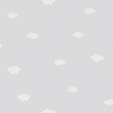 Casadeco My Little World Fabrics & Wallpapers Clouds Wallpaper - Grey - 29759332