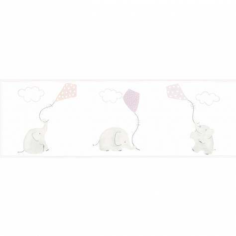 Casadeco My Little World Fabrics & Wallpapers Elephant Wallpaper Border - Beige - 29761235